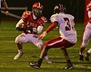 Baldwinsville Bees Ryan Ingerson (23) with the ball against the Utica-Proctor Raiders in Section III Football action at the Pelcher-Arcaro Stadium in Baldwinsville, New York on Friday, October 2, 2015. Baldwinsville won 35-34.