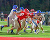 Cicero-North Syracuse Northstars Erik Pride (5) carrying the ball against the Baldwinsville Bees in Section III Football action at the Pelcher-Arcaro Stadium in Baldwinsville, New York on Friday, October 7, 2016. Cicero-North Syracuse won 20-7.