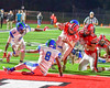 Baldwinsville Bees Jack Buis (3) scores a touchdown agianst the Cicero-North Syracuse Northstars in Section III Football action at the Pelcher-Arcaro Stadium in Baldwinsville, New York on Friday, October 7, 2016. Cicero-North Syracuse won 20-7.