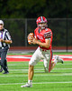 Baldwinsville Bees Ben Dwyer (9) looking to make a pass against the Cicero-North Syracuse Northstars in Section III Football action at the Pelcher-Arcaro Stadium in Baldwinsville, New York on Friday, October 7, 2016. Cicero-North Syracuse won 20-7.