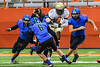 Christian Brothers Academy Noah Jordan-Williams (5) running with the ball against the Cicero-North Syracuse Northstars in Section III Class AA Football Championship action at the Carrier Dome in Syracuse, New York on Saturday, November 5, 2016. CBA won 27-14.