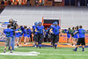Cicero-North Syracuse Northstars take fie field before playing the Christian Brothers Academy in the Section III Class AA Football Championship game at the Carrier Dome in Syracuse, New York on Saturday, November 5, 2016.