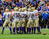Christian Brothers Academy Offense huddles up against the Cicero-North Syracuse Northstars in Section III Class AA Football Championship action at the Carrier Dome in Syracuse, New York on Saturday, November 5, 2016. CBA won 27-14.