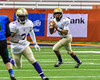 Christian Brothers Academy Quarterback SirVocea Dennis (17) looking to make a pass against the Cicero-North Syracuse Northstars in Section III Class AA Football Championship action at the Carrier Dome in Syracuse, New York on Saturday, November 5, 2016. CBA won 27-14.