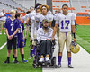 Christian Brothers Academy SirVocea Dennis (17) stands with Kyle Francis during the National Anthem before playing against Cicero-North Syracuse Northstars in the Section III Class AA Football Championship game at the Carrier Dome in Syracuse, New York on Saturday, November 5, 2016.