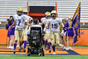 Christian Brothers Academy take fie field before playing the Cicero-North Syracuse Northstars in the Section III Class AA Football Championship game at the Carrier Dome in Syracuse, New York on Saturday, November 5, 2016.