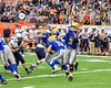 Cazenovia Lakers Anthony Vecchiarelli (3) passes the ball againt the Homer Trojans in Section III Class B Football Championship action at Carrier Dome in Syracuse, New York on Sunday, November 6, 2016. Cazenovia won 31-7.