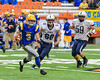 Cazenovia Lakers Anthony Vecchiarelli (3) running with the ball against the Homer Trojans in Section III Class B Football Championship action at Carrier Dome in Syracuse, New York on Sunday, November 6, 2016. Cazenovia won 31-7.