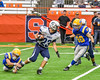 Homer Trojans Matt Guerrera (23) running with the ball against the Cazenovia Lakers in Section III Class B Football Championship action at Carrier Dome in Syracuse, New York on Sunday, November 6, 2016.