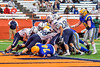 Cazenovia Lakers cross the goal line for a touchdown against the Homer Trojans in Section III Class B Football Championship action at Carrier Dome in Syracuse, New York on Sunday, November 6, 2016.