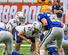 Homer Trojans Jacob Rivers (15) under center Brandon Aylesworth (67) against the Cazenovia Lakers in Section III Class B Football Championship action at Carrier Dome in Syracuse, New York on Sunday, November 6, 2016.