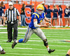 Cazenovia Lakers Anthony Vecchiarelli (3) running with the ball against the Homer Trojans in Section III Class B Football Championship action at Carrier Dome in Syracuse, New York on Sunday, November 6, 2016.