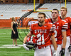 Baldwinsville Bees played against the Corning Hawks in the 2017 Kick Off Classic at the Carrier Dome in Syracuse, New York on Thursday, August 31, 2017.  Baldwinsville won 35-7.