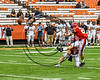 Baldwinsville Bees Garrett Selover (24) kicks the Extra Piont against the Corning Hawks in the 2017 Kick Off Classic at the Carrier Dome in Syracuse, New York on Thursday, August 31, 2017.  Baldwinsville won 35-7.