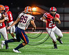 Baldwinsville Bees EJ Edmonds (23) running with the ball against the Liverpool Warriors in Section III Football action at the Pelcher-Arcaro Stadium in Baldwinsville, New York on Friday, September 22, 2017.  Baldwinsville won 35-7.