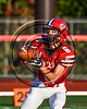 Baldwinsville Bees Mason Marsallo (6) warming up before playing the Liverpool Warriors in Section III Football action at the Pelcher-Arcaro Stadium in Baldwinsville, New York on Friday, September 22, 2017.