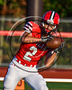Baldwinsville Bees Nathan Jaquint (2) warming up before playing the Liverpool Warriors in Section III Football action at the Pelcher-Arcaro Stadium in Baldwinsville, New York on Friday, September 22, 2017.