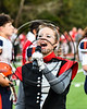 Anthem singer before the Baldwinsville Bees played the Liverpool Warriors in Section III Football action at the Pelcher-Arcaro Stadium in Baldwinsville, New York on Friday, September 22, 2017.