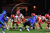 Baldwinsville Bees Quarterack Ben Dwyer (9) behind Center Jack Graham (72) against the Cicero-North Syracuse Northstars in Section III Football action at the Michael Bragman Stadium in Cicero, New York on Friday, October 6, 2017.