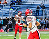 Baldwinsville Ben Dwyer (9) warming up before playing the Cicero-North Syracuse Northstars at the Michael Bragman Stadium in Cicero, New York on Friday, October 6, 2017.