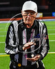 Head Referee with the Coin Toss before the Baldwinsville Bees and Cicero-North Syracuse Northstars play in a Section III Football game at the Michael Bragman Stadium in Cicero, New York on Friday, October 6, 2017.