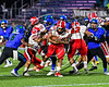 Baldwinsville Bees EJ Edmonds (23) running with the ball against the Cicero-North Syracuse Northstars in Section III Football action at the Michael Bragman Stadium in Cicero, New York on Friday, October 6, 2017.