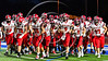 Baldwinsville Bees players take the field before playing the Cicero-North Syracuse Northstars at the Michael Bragman Stadium in Cicero, New York on Friday, October 6, 2017.