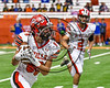Baldwinsville Bees Patrick May (86) running with the ball against the Cicero-North Syracuse Northstars in Section III Class AA Football Championship game action at the Carrier Dome in Syracuse, New York on Saturday, November 4, 2017. Cicero-North Syracuse won 56-21.