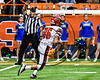 Baldwinsville Bees Patrick May (86) taking the kick-off against the Cicero-North Syracuse Northstars in Section III Class AA Football Championship game action at the Carrier Dome in Syracuse, New York on Saturday, November 4, 2017. Cicero-North Syracuse won 56-21.