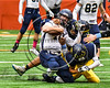 Skaneateles Lakers Patrick Hackler (10) tackled by General Brown Lions defenders in Section III Class C Football Championship game action at the Carrier Dome in Syracuse, New York on Saturday, November 4, 2017. Skaneateles won 66-27.