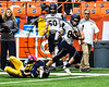 Skaneateles Lakers Nate Wellington (82) running with the ball against the General Brown Lions in Section III Class C Football Championship game action at the Carrier Dome in Syracuse, New York on Saturday, November 4, 2017. Skaneateles won 66-27.