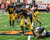 General Brown Lions Dominic Lutz (21) running with the ball against the Skaneateles Lakers in Section III Class C Football Championship game action at the Carrier Dome in Syracuse, New York on Saturday, November 4, 2017. Skaneateles won 66-27.