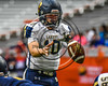 Skaneateles Lakers Patrick Hackler (10) takes the snap against the General Brown Lions in Section III Class C Football Championship game action at the Carrier Dome in Syracuse, New York on Saturday, November 4, 2017. Skaneateles won 66-27.