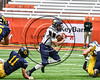 Skaneateles Lakers Patrick Hackler (10) running with the ball against the General Brown Lions in Section III Class C Football Championship game action at the Carrier Dome in Syracuse, New York on Saturday, November 4, 2017. Skaneateles won 66-27.