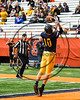 General Brown Lions Jake Heller (10) catches the ball for a touchdown against the Skaneateles Lakers in Section III Class C Football Championship game action at the Carrier Dome in Syracuse, New York on Saturday, November 4, 2017. Skaneateles won 66-27.