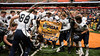 Skaneateles Lakers celebrate their Section III Class C Football Championship at the Carrier Dome in Syracuse, New York on Saturday, November 4, 2017.