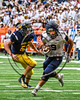 Skaneateles Lakers Areh Boni (9) running with the ball against the General Brown Lions in Section III Class C Football Championship game action at the Carrier Dome in Syracuse, New York on Saturday, November 4, 2017. Skaneateles won 66-27.