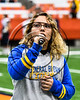 General Brown Lions National Anthem singer at the Carrier Dome in Syracuse, New York on Saturday, November 4, 2017.
