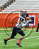 Skaneateles Lakers Cross Bianchi (81) takes the kick-off against the General Brown Lions in Section III Class C Football Championship game action at the Carrier Dome in Syracuse, New York on Saturday, November 4, 2017. Skaneateles won 66-27.