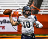 Skaneateles Lakers Patrick Hackler (10) passing the ball against the General Brown Lions in Section III Class C Football Championship game action at the Carrier Dome in Syracuse, New York on Saturday, November 4, 2017. Skaneateles won 66-27.
