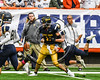 Skaneateles Lakers Cross Bianchi (81) forces General Brown Lions Thomas Dupee (12) to fumble the ball in Section III Class C Football Championship game action at the Carrier Dome in Syracuse, New York on Saturday, November 4, 2017. Skaneateles won 66-27.
