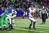 Elimira Express Zack Middaugh (9) running with the ball against the Cicero-North Syracuse Northstars in NYS Regional Finals Class AA Football game action at the Micheal Bragman Stadium in Cicero, New York on Saturday, November 10, 2018. Cicero-North Syracuse won 42-20.