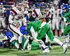 Cicero-North Syracuse Northstars Nate Geloff (11) tackles Elimira Express Jarrid Lewis (11) in NYS Regional Finals Class AA Football game action at the Micheal Bragman Stadium in Cicero, New York on Saturday, November 10, 2018. Cicero-North Syracuse won 42-20.