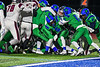 Cicero-North Syracuse Northstars defense stops Elimira Express Jarrid Lewis (11) from scoring in NYS Regional Finals Class AA Football game action at the Micheal Bragman Stadium in Cicero, New York on Saturday, November 10, 2018. Cicero-North Syracuse won 42-20.