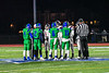 Captains from the Cicero-North Syracuse Northstars and Elimira Express take part in the coin toss before playing in the NYS Regional Finals Class AA Football game at the Micheal Bragman Stadium in Cicero, New York on Saturday, November 10, 2018.