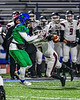 Cicero-North Syracuse Northstars Shy'rel Broadwater (13) has the ball defended away by Elimira Express Max Temple (7) in NYS Regional Finals Class AA Football game action at the Micheal Bragman Stadium in Cicero, New York on Saturday, November 10, 2018. Cicero-North Syracuse won 42-20.
