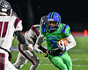 Cicero-North Syracuse Northstars Jaiquawn McGriff (6) running with the ball against the Elimira Express in NYS Regional Finals Class AA Football game action at the Micheal Bragman Stadium in Cicero, New York on Saturday, November 10, 2018. Cicero-North Syracuse won 42-20.