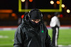 Cicero-North Syracuse Northstars coach on the sideline before the start of the NYS Regional Finals Class AA Football game against the Elmira Express at the Micheal Bragman Stadium in Cicero, New York on Saturday, November 10, 2018.