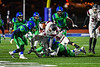 Cicero-North Syracuse Northstars Josh Lawrence (5) tackles Elimira Express Jarrid Lewis (11) in NYS Regional Finals Class AA Football game action at the Micheal Bragman Stadium in Cicero, New York on Saturday, November 10, 2018. Cicero-North Syracuse won 42-20.