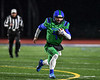 Cicero-North Syracuse Northstars Quarterback Conner Hayes (4) running with the ball against the Elimira Express in NYS Regional Finals Class AA Football game action at the Micheal Bragman Stadium in Cicero, New York on Saturday, November 10, 2018. Cicero-North Syracuse won 42-20.